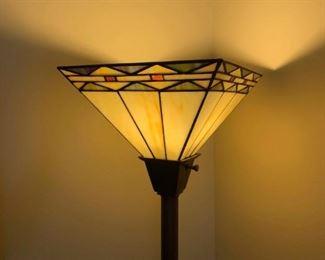 Mission style floor lamp