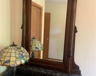 Antique 1800s dresser with mirror and marble top