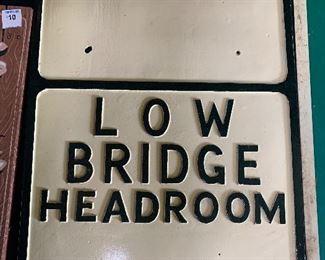 Low Bridge Sign