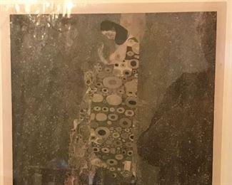 "Hope II by Gustav Klimt collotype print from Das Werk Gustav Klimts folio set, 1908-1914. H.O. Miethke, Editor-Publisher; k.k. Hof-und Staatsdruckerei, Printer.  21"" x 25"" inc. frame."