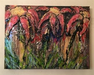 """Real Beauty Survives by Mandy Lawson, 2005. Oil on canvas, 48"""" x 35"""", unframed."""