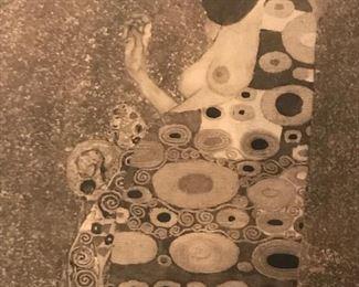 "<i>Hope II</i> by Gustav Klimt collotype print from Das Werk Gustav Klimts folio set, 1908-1914. H.O. Miethke, Editor-Publisher; k.k. Hof-und Staatsdruckerei, Printer.  21"" x 25"" inc. frame."