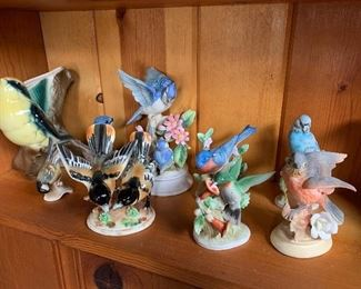 We have many bird figurines from bygone years.  Any of our figurines for only $10 each!