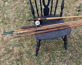 Antique fishing poles-all of them for $50!
