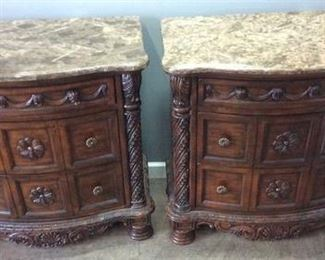 2 ASHLEY FURNITURE NORTH SHORE NIGHTSTANDS