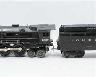 Lionel 2037 Locomotive Train Die Cast Metal with 6026W Tender