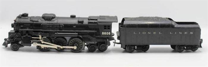 Lionel 8606 Locomotive Die Cast Train with Tender