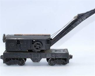 Lionel 2460 Black Crane Car
