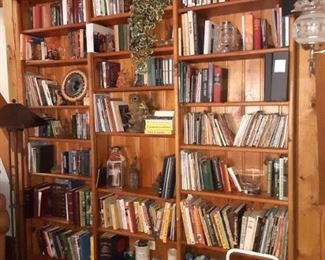 Lots of books hardcover and soft also children's books