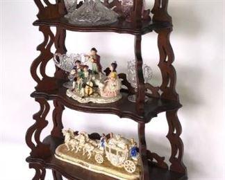 Walnut Etegere Shelf