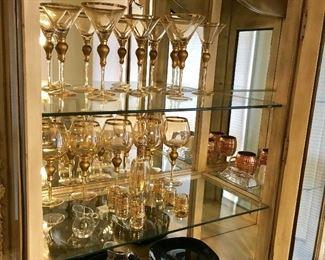 Excellent Gold Trimmed Crystal Stemware.