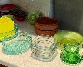 Vintage Kitchen China & Glassware.