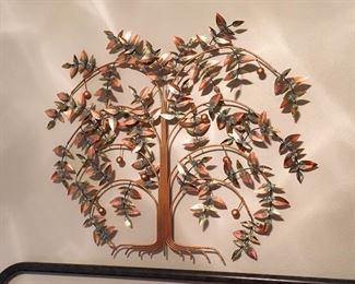 EXCELLENT Art signed Nice sized Copper Tree Wall art.