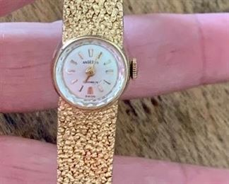 Item 151:  14K Vintage Angelus Women Watch: $900