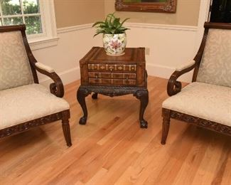 My apologies. These chairs have been removed from the sale.