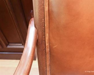Leather office chair  $95