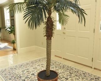 """Potted faux palm  $65 6'8"""" tall"""