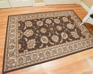 Cotton Brown Area Rug  $85 8' x 5'3""