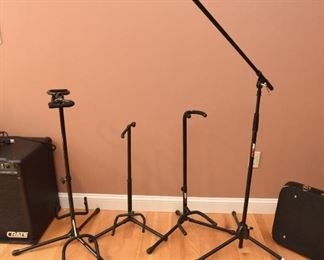 Guitar stands and mic stand $20 each