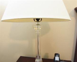 Pair Glass Lamps  $70