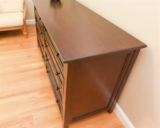 """Pottery Barn Hudson 8-drawer extra wide dresser  $475 66"""" wide x 24"""" deep x 36"""" high. Excellent condition."""