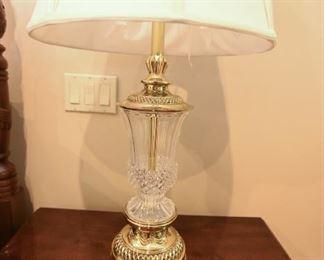 "Stiffel Crystal Lamp $95 2'10"" x 17"" diameter shade."
