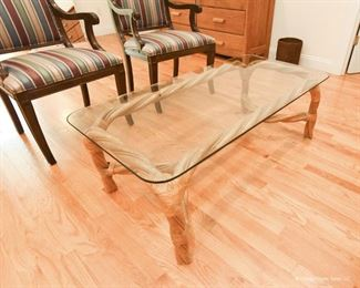 """Twisted rattan coffee table 4' long  x 1'4""""tall  x 2' wide $95"""