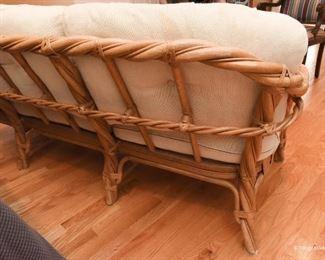 Twisted Rattan sofa $185