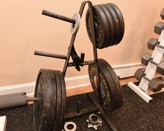 Free weights with your choice of barbell $225