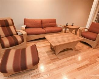Wicker Furniture - indoor, or protected outdoor area only.