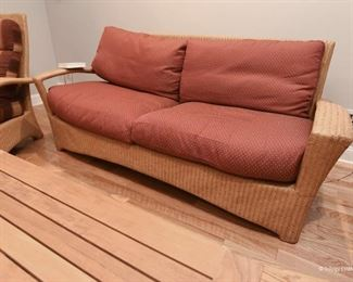 Wicker sofa $195 For indoor or covered porch use.