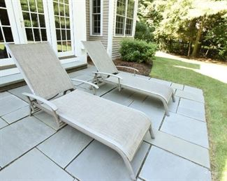 Pair outdoor lounge chairs $80