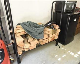 Log holder with wood  $70