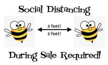 social distance button
