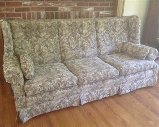 Sofa and chair with ottoman...recovered by Chase.  Set is presale for $95