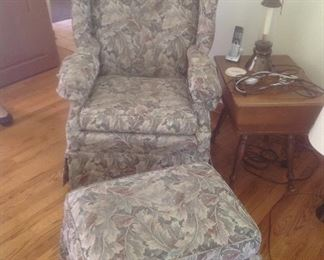 Matching chair and ottoman
