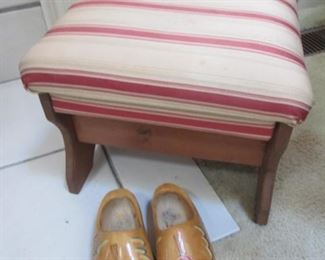Hand Painted Wooden Shoes
