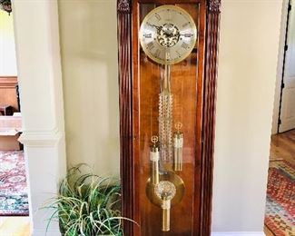 Lighted Howard Miller grandfather clock retired style