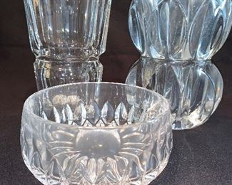 many LEAD crystal pieces as well as some cut glass