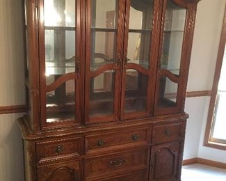 Ornate Wooden China Cabinet