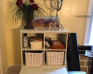 shelves, baskets, decor