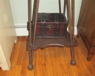 Antique Rope Twist Accent Tables