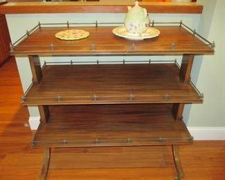 Antique Oak Server Dessert/Sideboard, 3 Tier Buffet