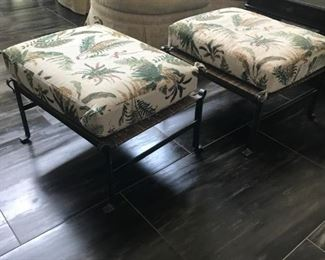 $195 each, Iron and Wicker Stools