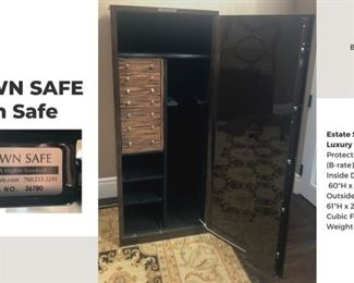 Interior of Brown Safe - colored Black $6000