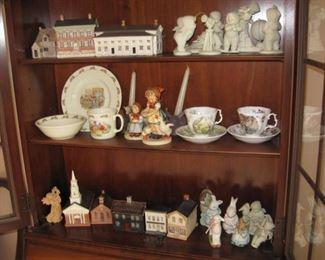Tea cups, snow babies, Royal Doulton childs set