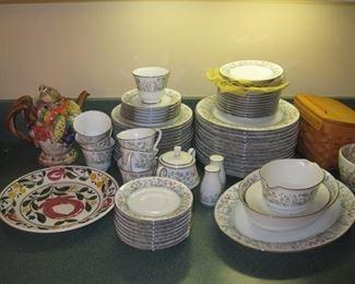 China set, Fitz & Floyd tea pot