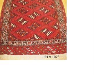 "$600.00, Yomut Turkoman Design Carpet Handwoven all wool ca. 1990/2000, 8'6"" x 4'8"""