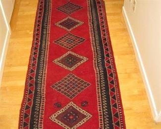 "$400.00, Persian Shiraz hadwoven all wool 2'8"" x 9'10"", Very good condition"