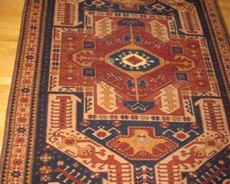 $600.00, Kasim Ushag Causasian design handwoven all wool ca. 1990/2000,  Very Good Condition, 5 x 10'